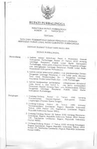 Perbup nomor.49 th.2013 ttg. Tata cara pembentukan Dewas LPPL