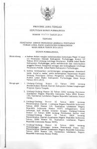 SK Bupati no. 555266 th. 2014 ttg. penetapan Dewas LPPL Kab.Pbg