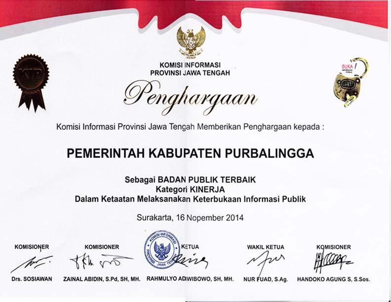 Purbalingga, Salah Satu Kabupaten dengan Keterbukaan Informasi Publik Terbaik di Jawa Tengah.