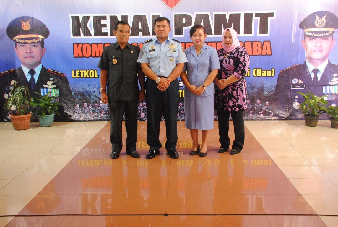 Letkol Nav Tony Jabat Danlanud Wirasaba