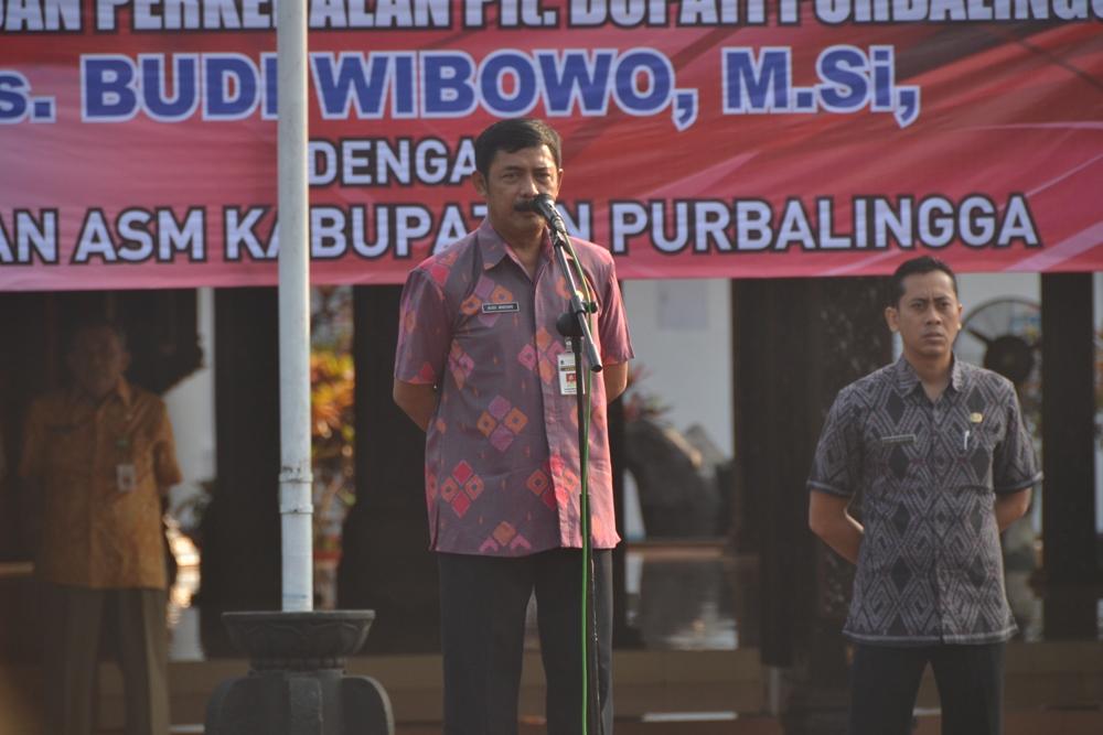 Isi Kekosongan Kepala Daerah, Plt Bupati Budi Wibowo Gelar Apel Pagi